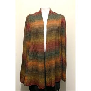 Coldwater Creek Drape Front Ombré Cardigan NWT 3X